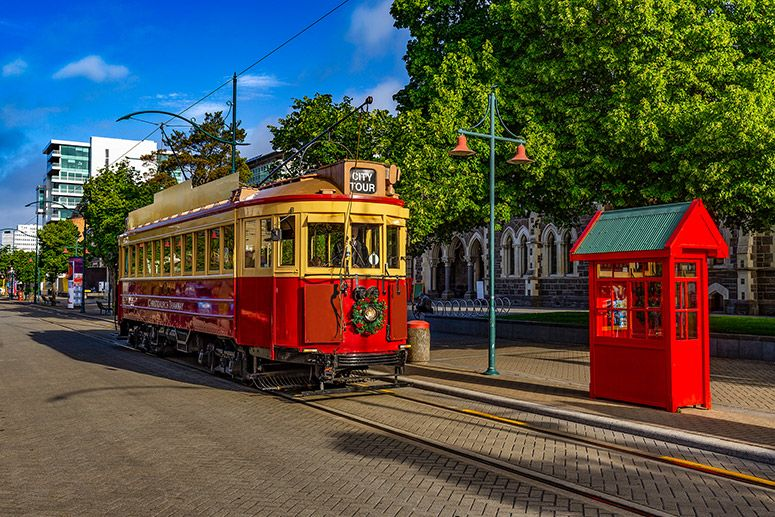 Tramway in Christchurch New Zealand