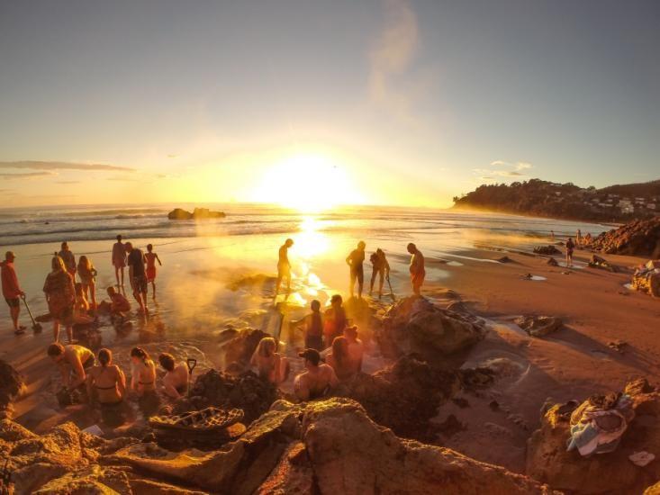 Sunrise at Hot Water Beach