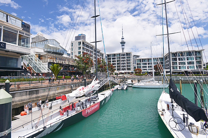 view of boats in auckland harbour