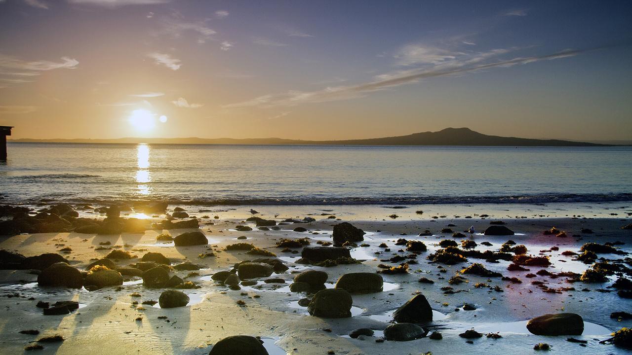 Sunrise over a quiet sea