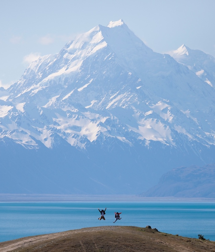 Road leading to a mountain near Mount Cook, New Zealand